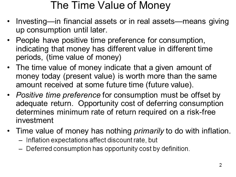 time value of money and positive What is deflation and how does it affect investments  the result is an increase in the real value of money  while such saving would seem positive,.