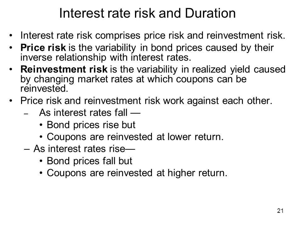 Coupon bond interest rate risk