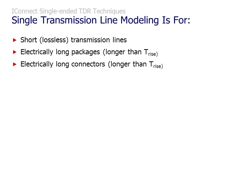 Short (lossless) transmission lines