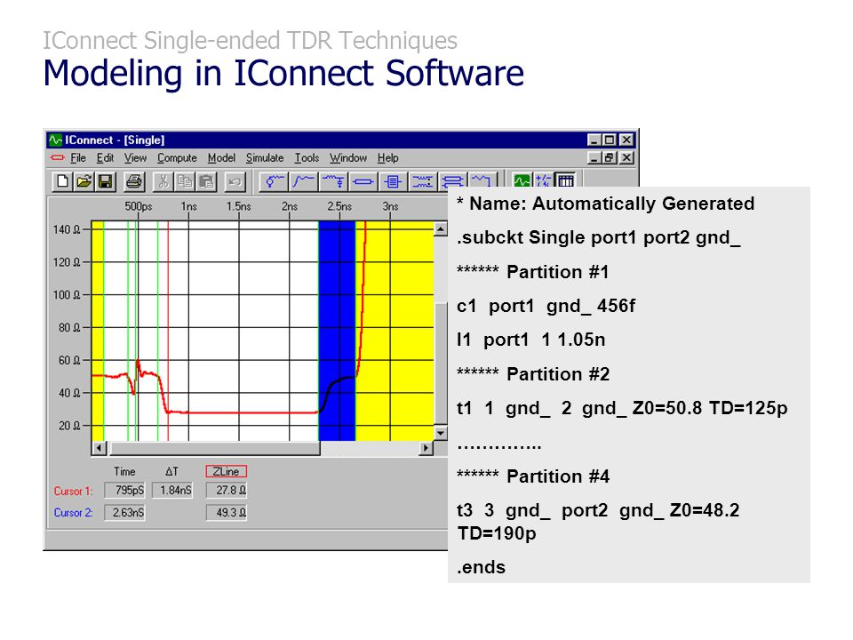 IConnect Single-ended TDR Techniques Modeling in IConnect Software