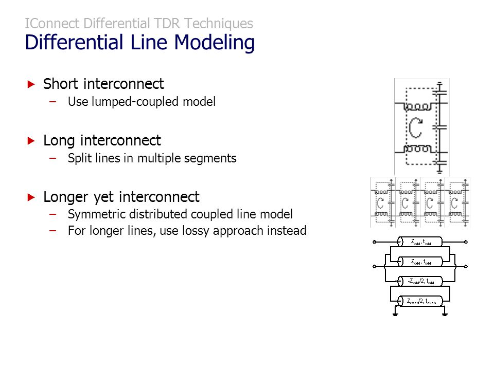 IConnect Differential TDR Techniques Differential Line Modeling
