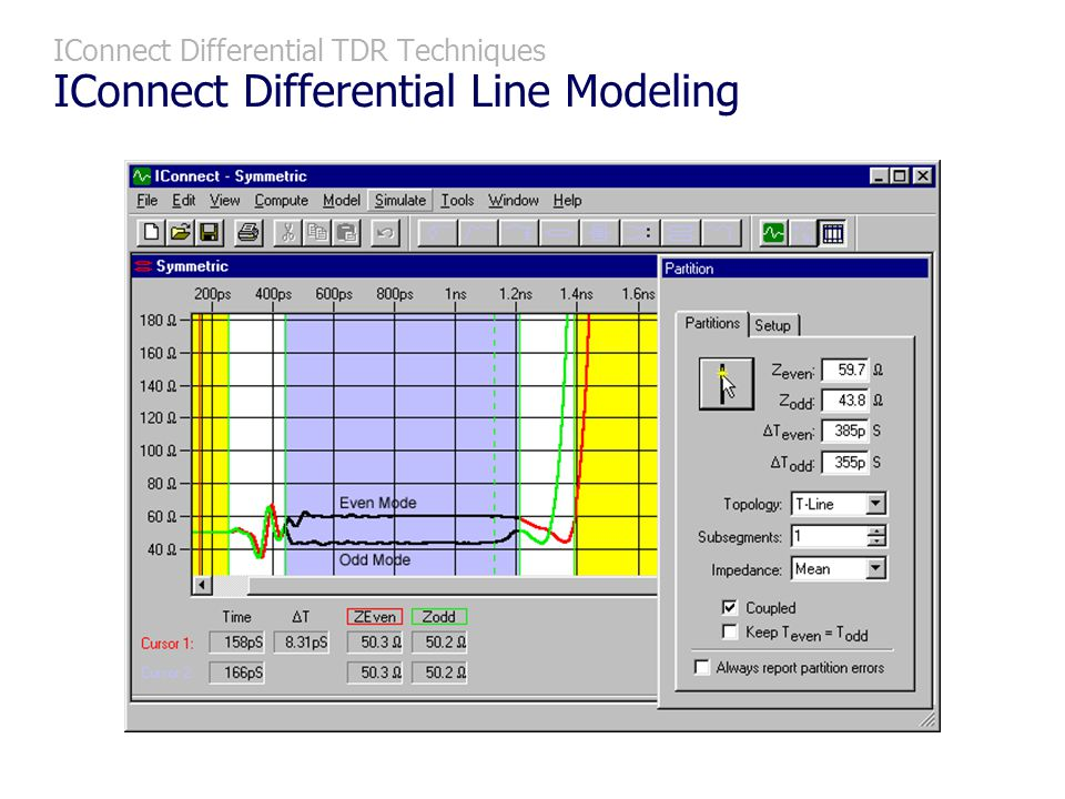 IConnect Differential TDR Techniques IConnect Differential Line Modeling