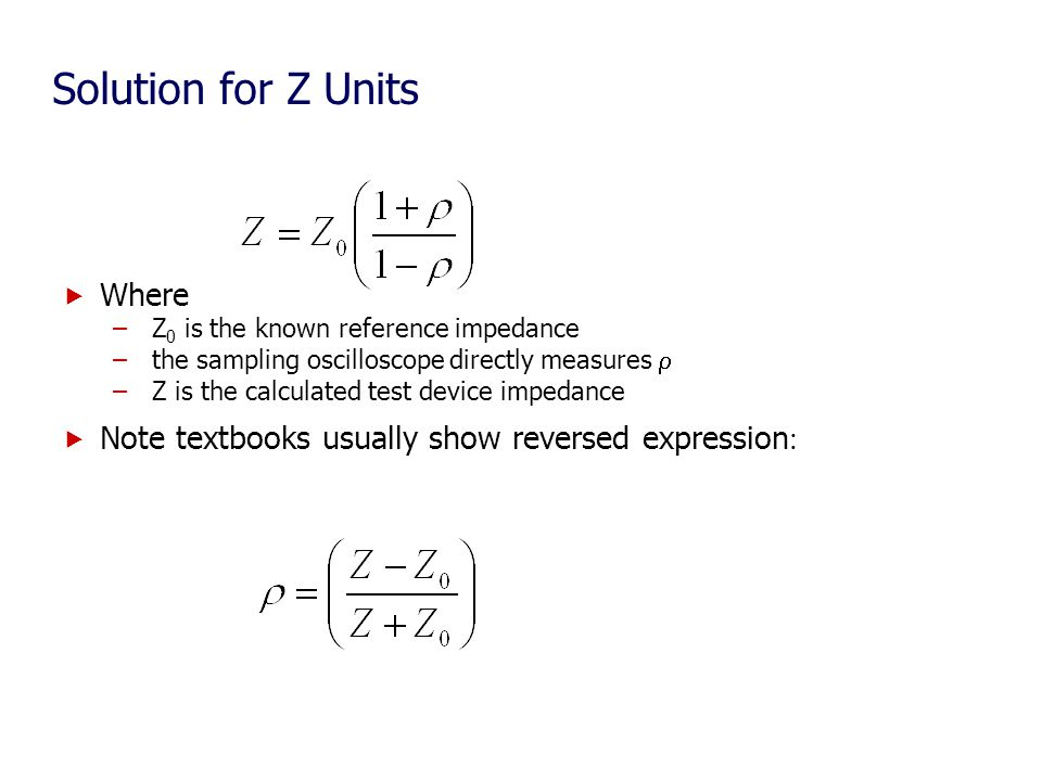 Solution for Z Units Where