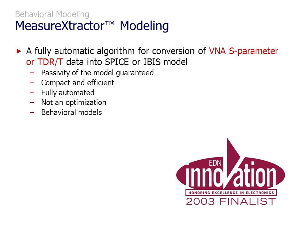 Behavioral Modeling MeasureXtractor™ Modeling