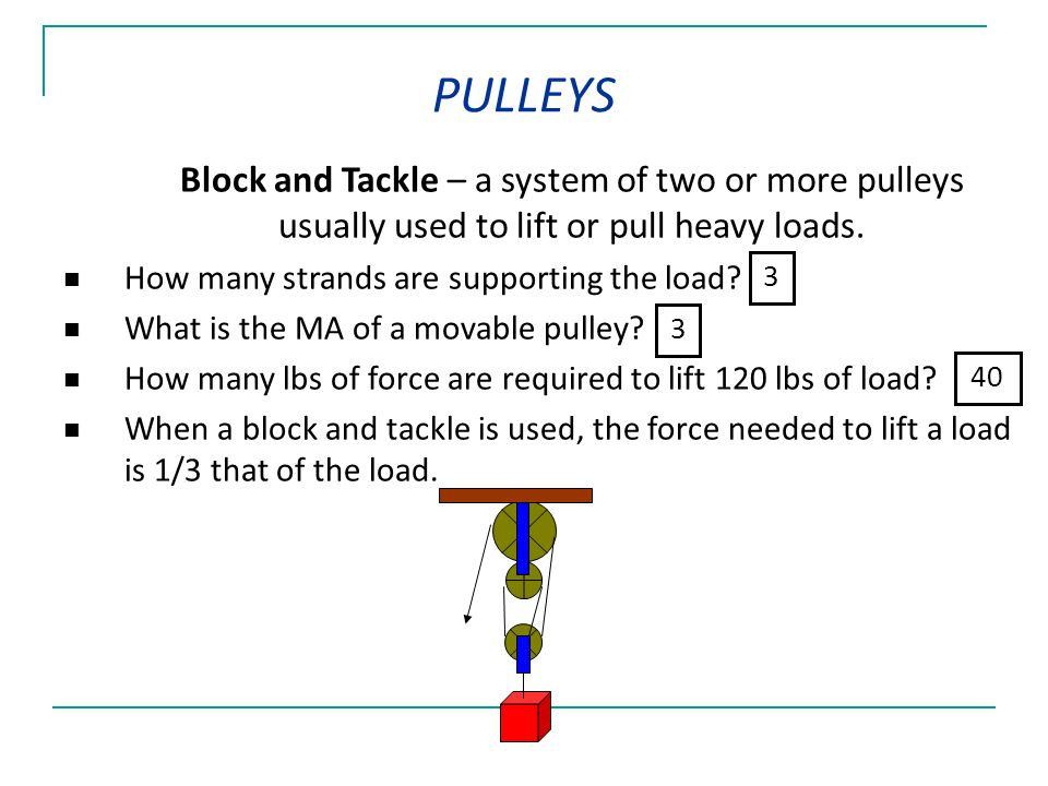 how to build a block and tackle system