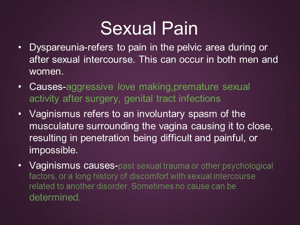 vaginismus essay Anti essays offers essay examples to help students with their primary vaginismus is when a woman has never been able to have pain free intercourse because of.