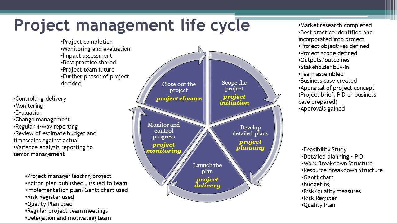 project management life cycle models essay Explain the importance of the project life cycle to project management identify and define the phases within the project life cycle a project is a niche in creation.
