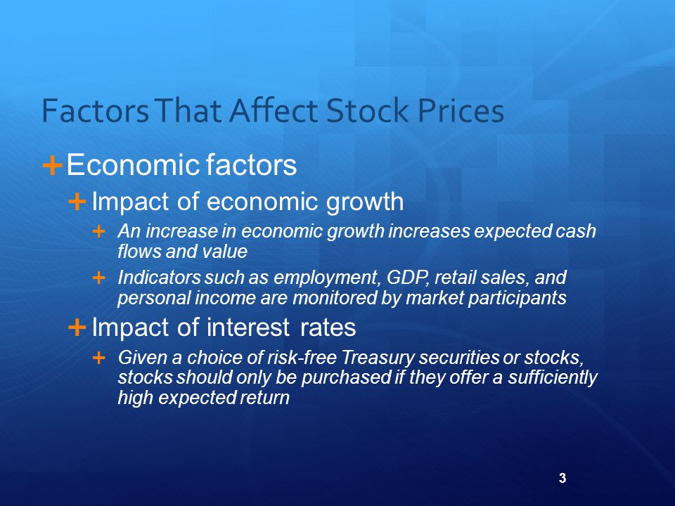 effects of economic factors on stock Factors such as the similarity of economic structure across countries,  (erm)  increases stock market synchronization beyond the effects of trade and financial.