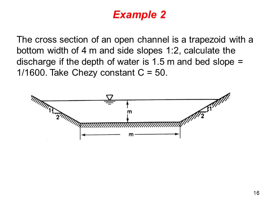 Water flow in open channels ppt video online download for Drainage slope calculator