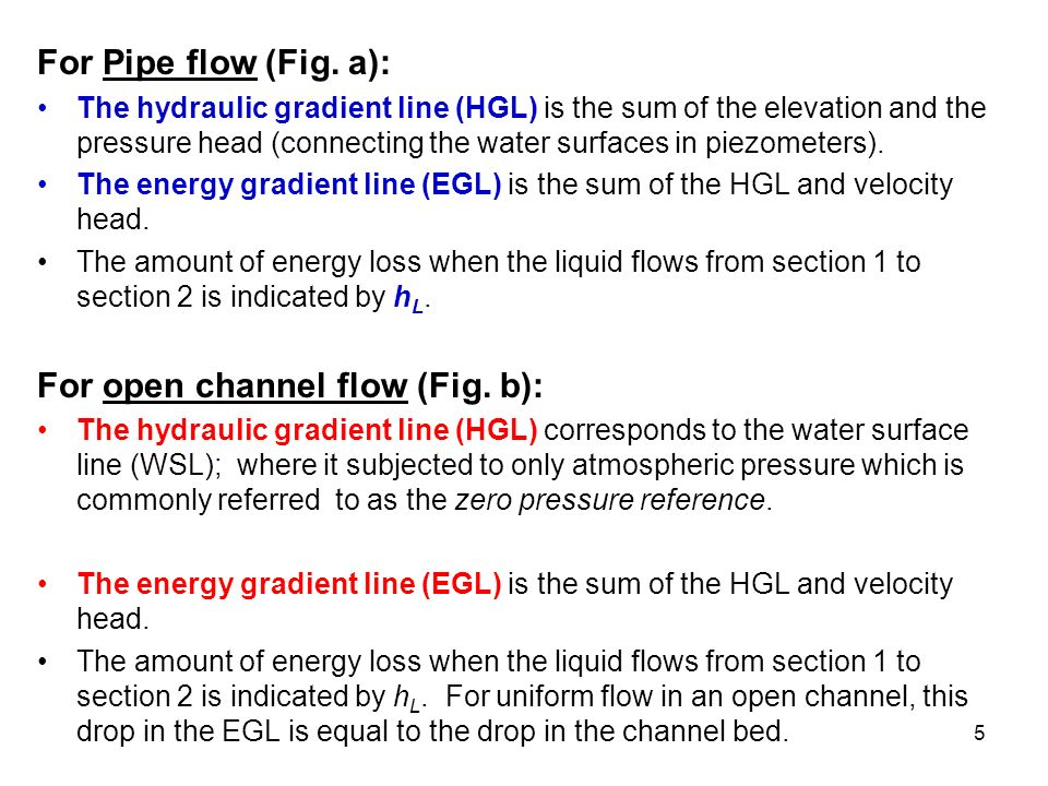 energy loss in open channel flow Block 3 – open channel flow (flow in rivers) the friction can be expressed as energy loss per flow distance: using friction slope and channel slope / 0.