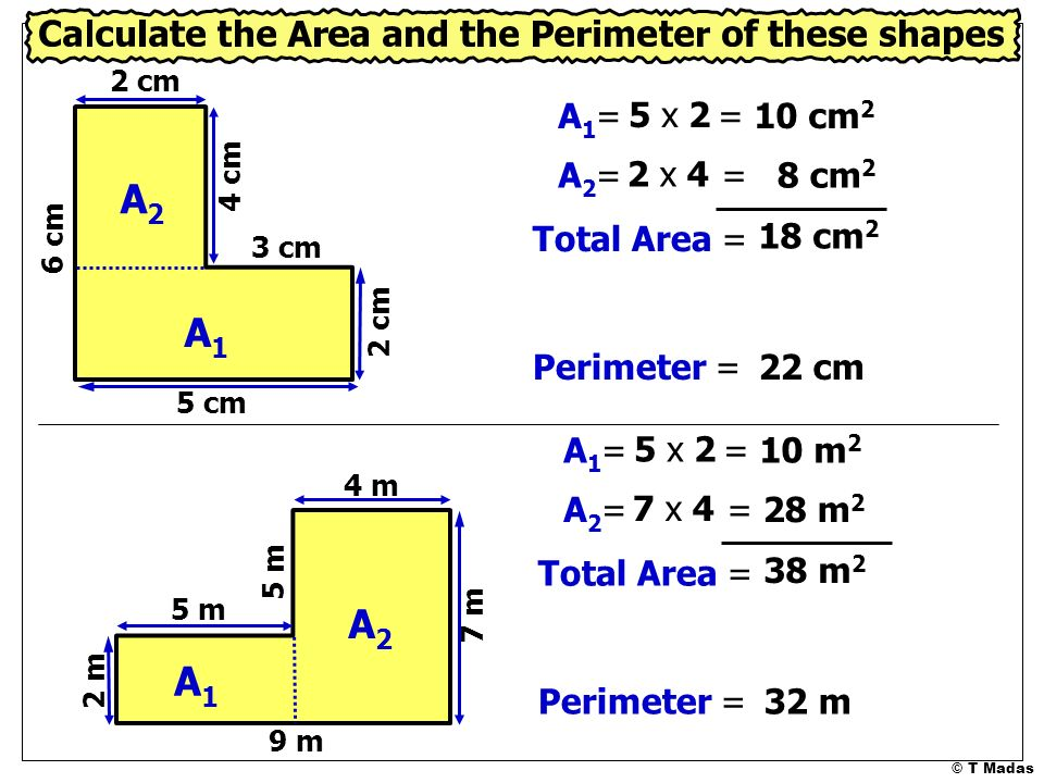 Area Of Shapes T Madas Ppt Video Online Download