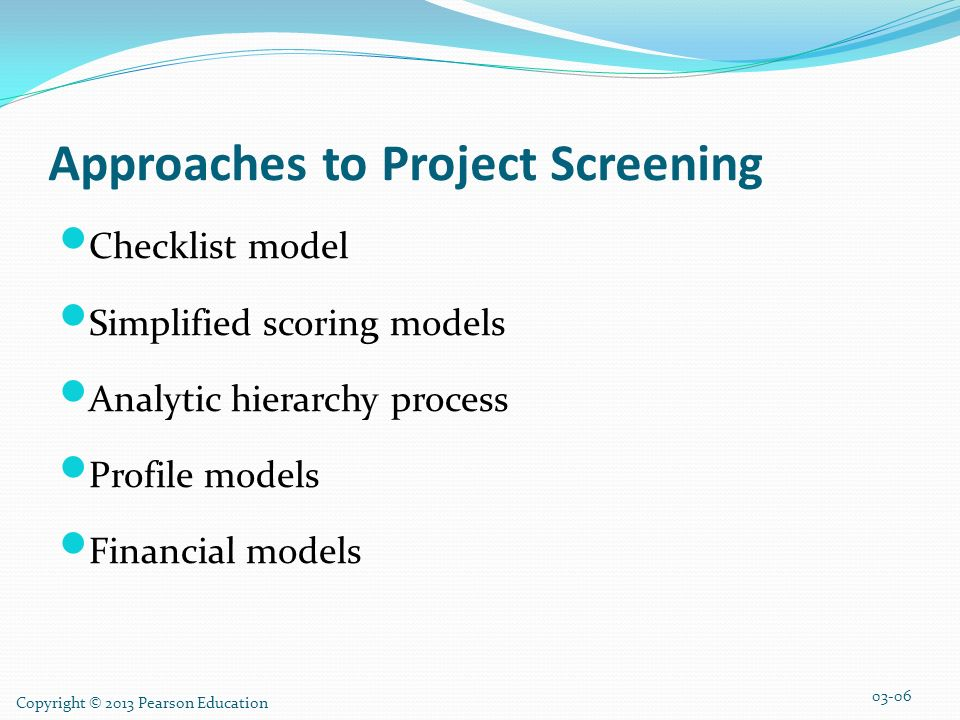 four approaches to project screening The implementation of the environmental impact  approaches used to address screening,  within this impel project four different types of projects were chosen.