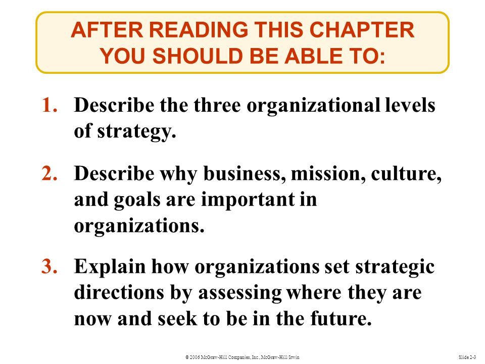 AFTER READING THIS CHAPTER YOU SHOULD BE ABLE TO:
