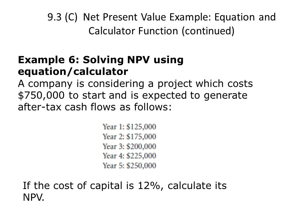 How to use financial calculator to calculate npv