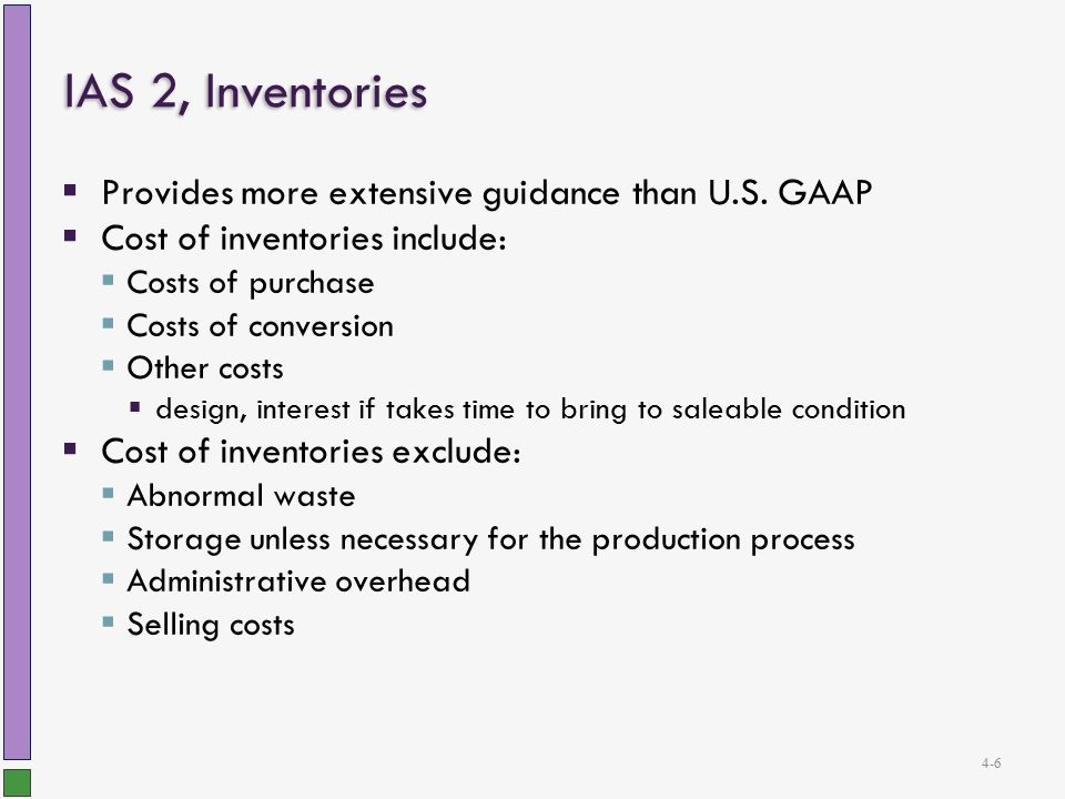 inventories ias 2 International accounting standard 2 inventories objective 1 the objective of  this standard is to prescribe the accounting treatment for inventories a primary.