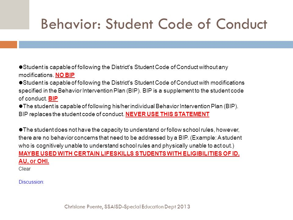 the student code of conduct of Student code of conduct use of facilities the walton county board of education is committed to providing a safe, orderly and productive learning environment for all students.
