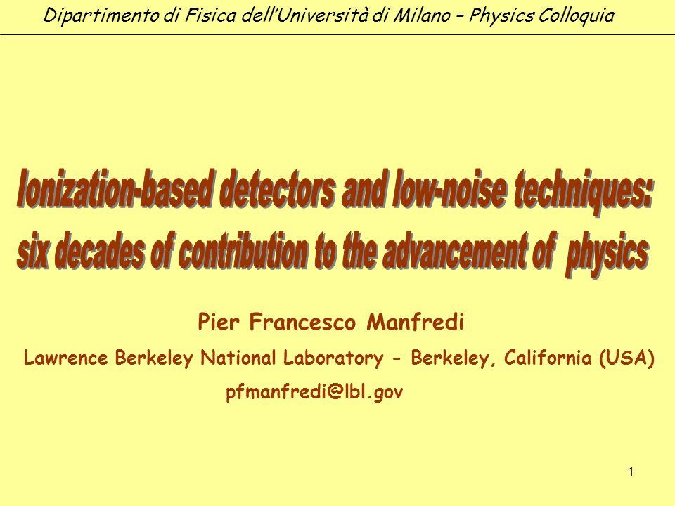 Ionization-based detectors and low-noise techniques: