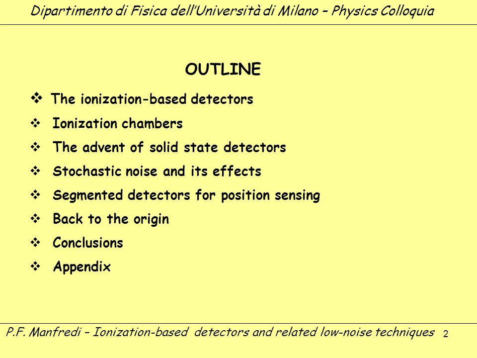 The ionization-based detectors