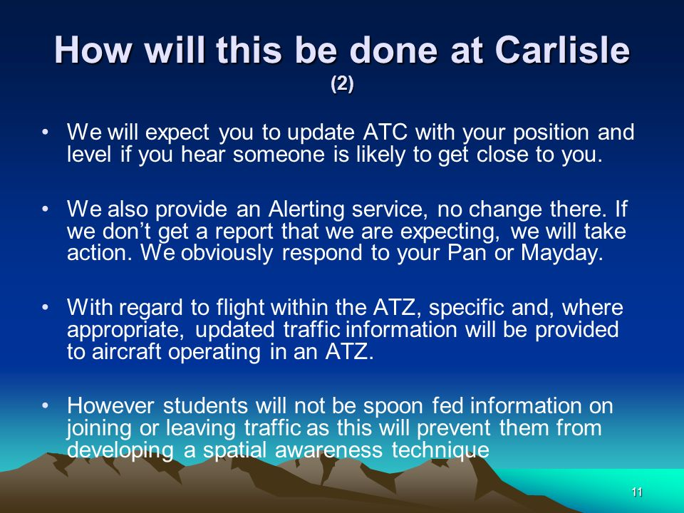 How will this be done at Carlisle (2)