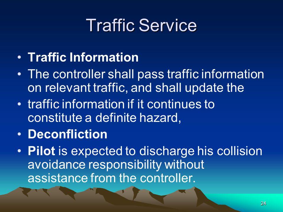 Traffic Service Traffic Information
