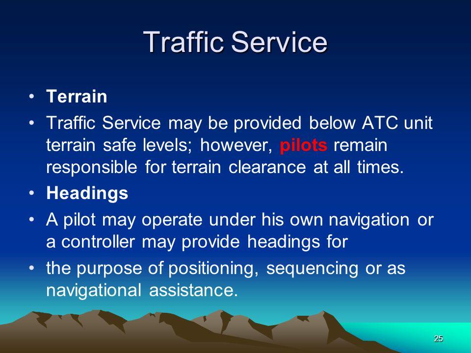 Traffic Service Terrain