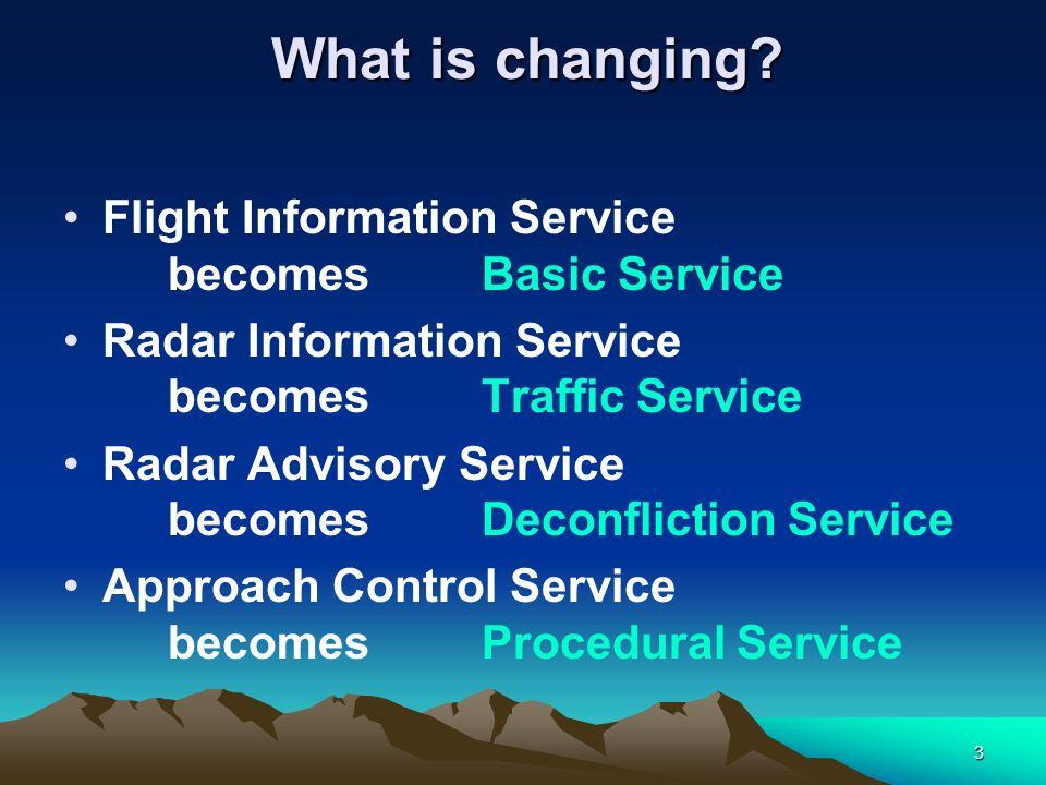 Flight Information Service becomes Basic Service
