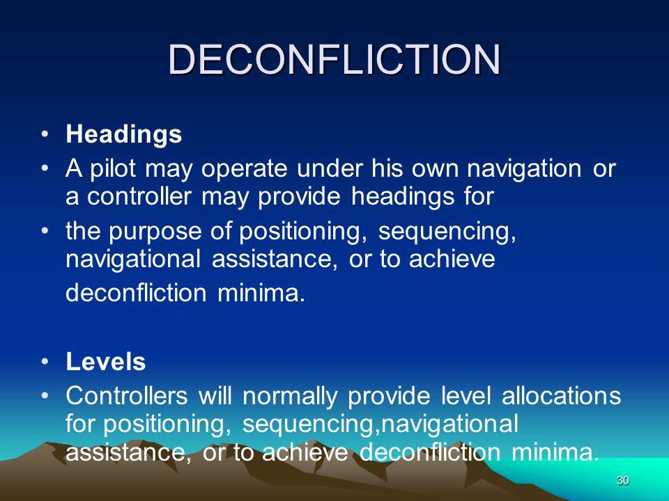 DECONFLICTION Headings