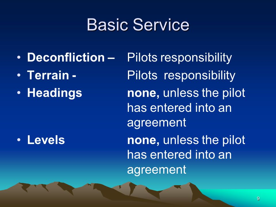 Basic Service Deconfliction – Pilots responsibility