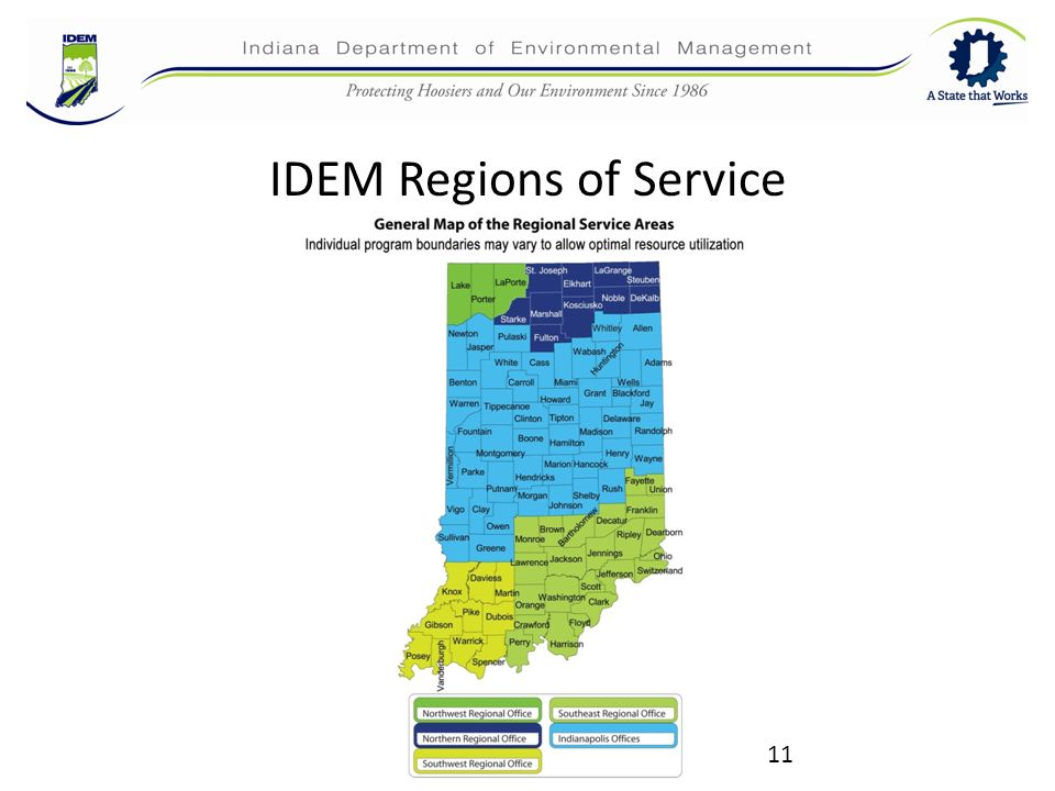 Idem 101 an introduction to the indiana department of for Environmental management bureau region 13