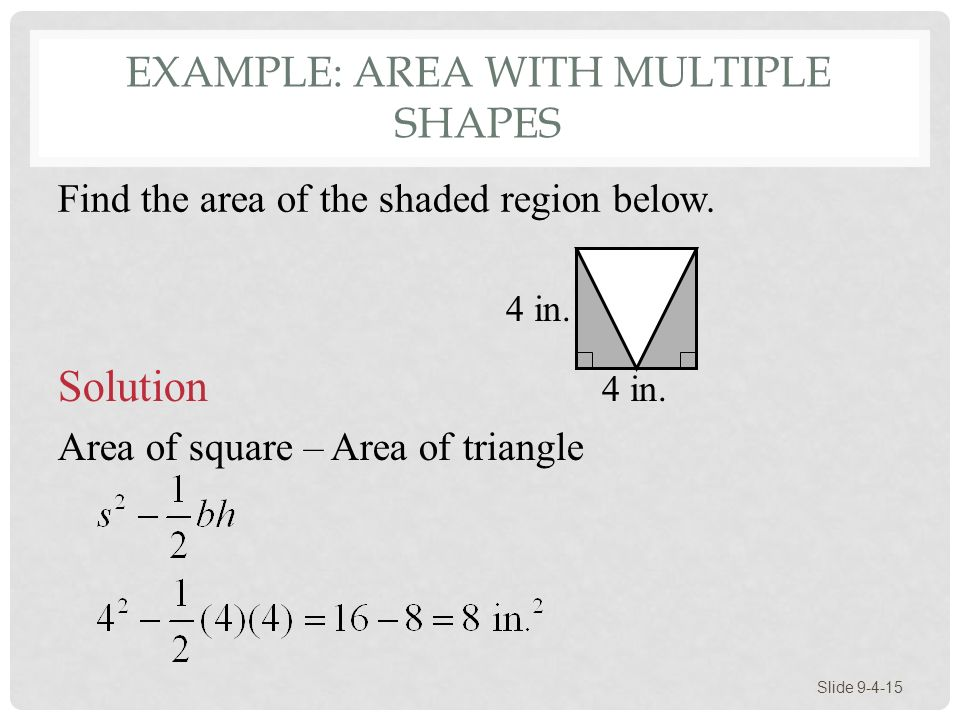 Example: Area With Multiple Shapes