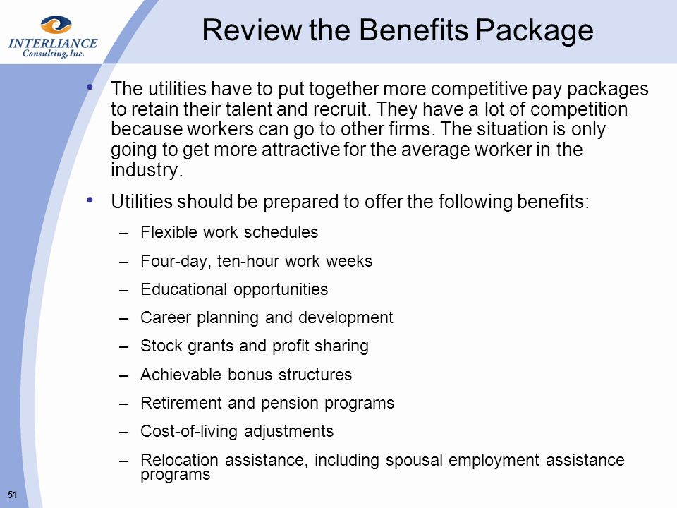 review the benefits package - Typical Relocation Package Average Relocation Package Examples
