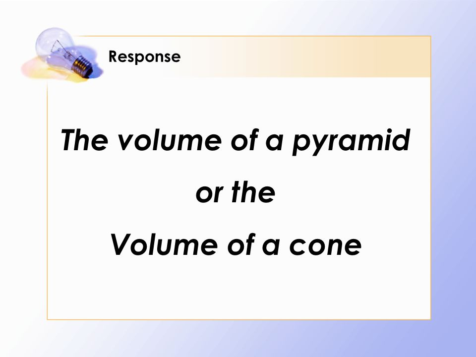 how to find the volume of a cone formula