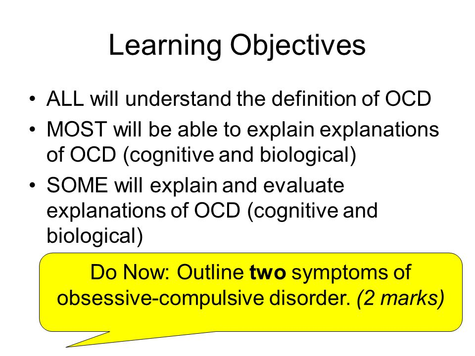 Medical Definition of Obsessive-compulsive disorder