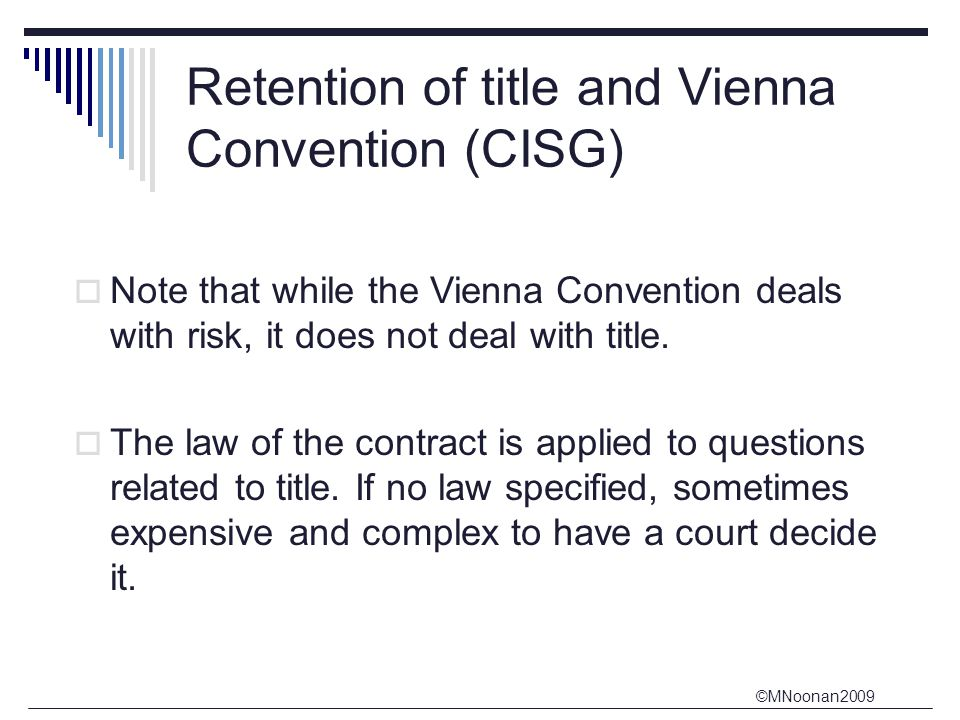 retention of title Retention of title in the uk – protecting your business from your customer's retaining title to goods supplied is essential for a supplier to manage his.