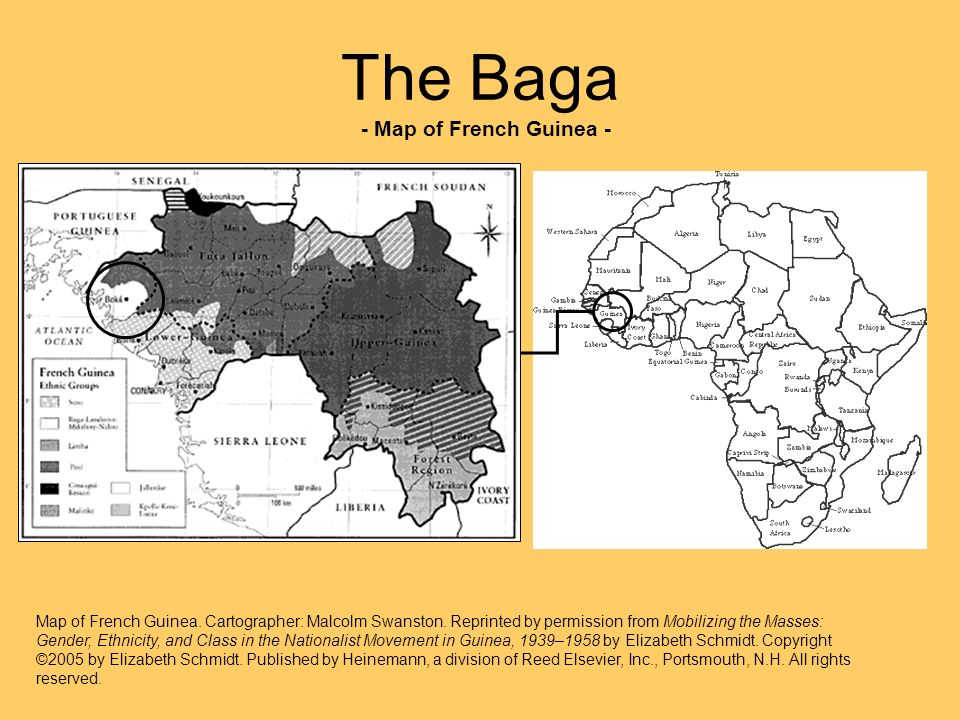 The Baga - Map of French Guinea -
