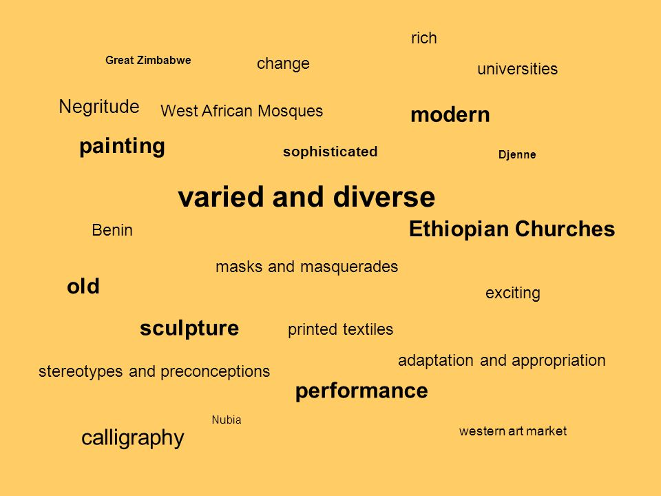 varied and diverse modern painting Ethiopian Churches old sculpture