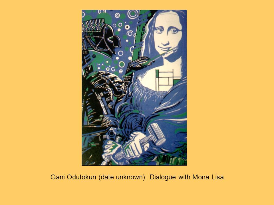 Gani Odutokun (date unknown): Dialogue with Mona Lisa.