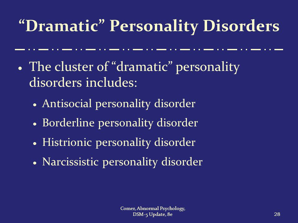a study of abnormal psychology anti social personality disorder Abnormal psychology  in the study that i found about antisocial personality  disorder, it was said that american culture encourages the.