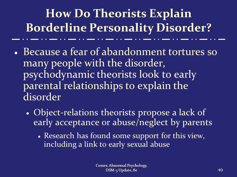 the correlation between multiple personality disorder and child abuse Symptoms which may look like borderline personality disorder may resolve as children get older the diagnostic and statistical manual of mental disorders, fifth edition (dsm-5), published by the american psychiatric association, is used to diagnose mental health conditions such as bpd, and by insurance companies to reimburse for treatment of.