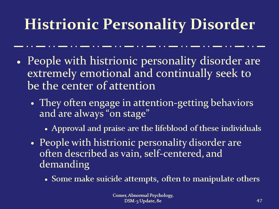Everything you need to know about histrionic personality disorder