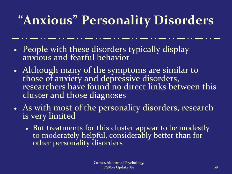 diagnosis and treatment of avoidant personality Many patients with personality disorders can be treated by family physicians   diagnostic criteria for 3010 paranoid personality disorder.