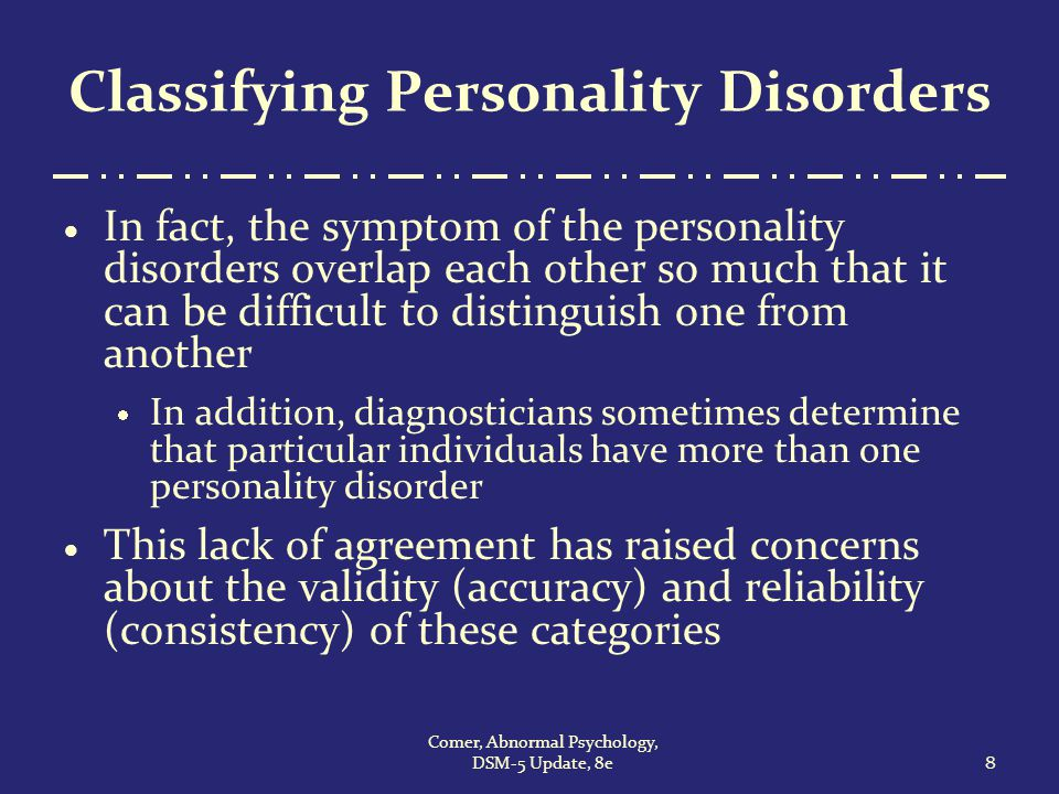 personality disorders fact or fiction Separating fact from fiction: an empirical examination of six myths  the  clinical phenomenology of multiple personality disorder: review of.