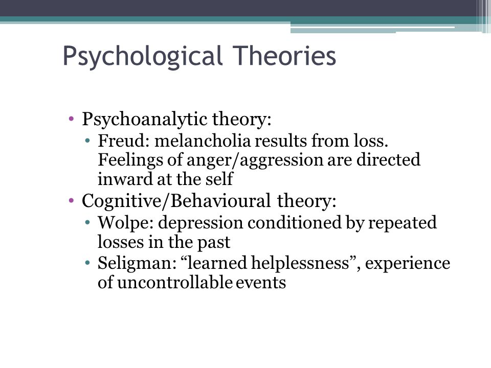 psychological theories
