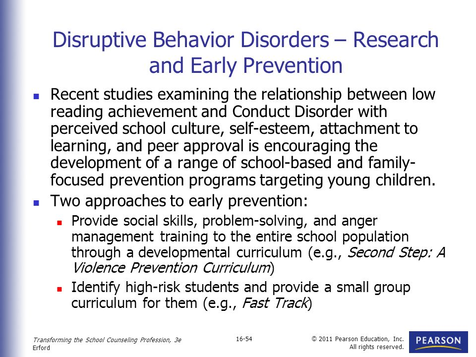 Adolescent Behavioral Problems