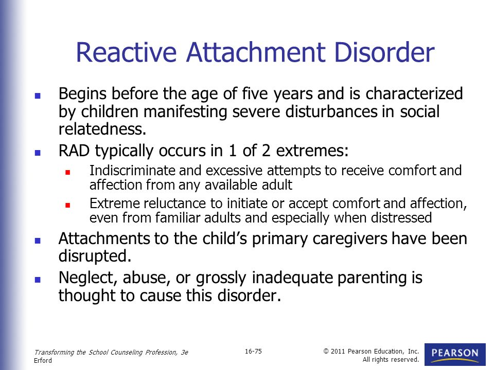 Adult reactive attachment disorder