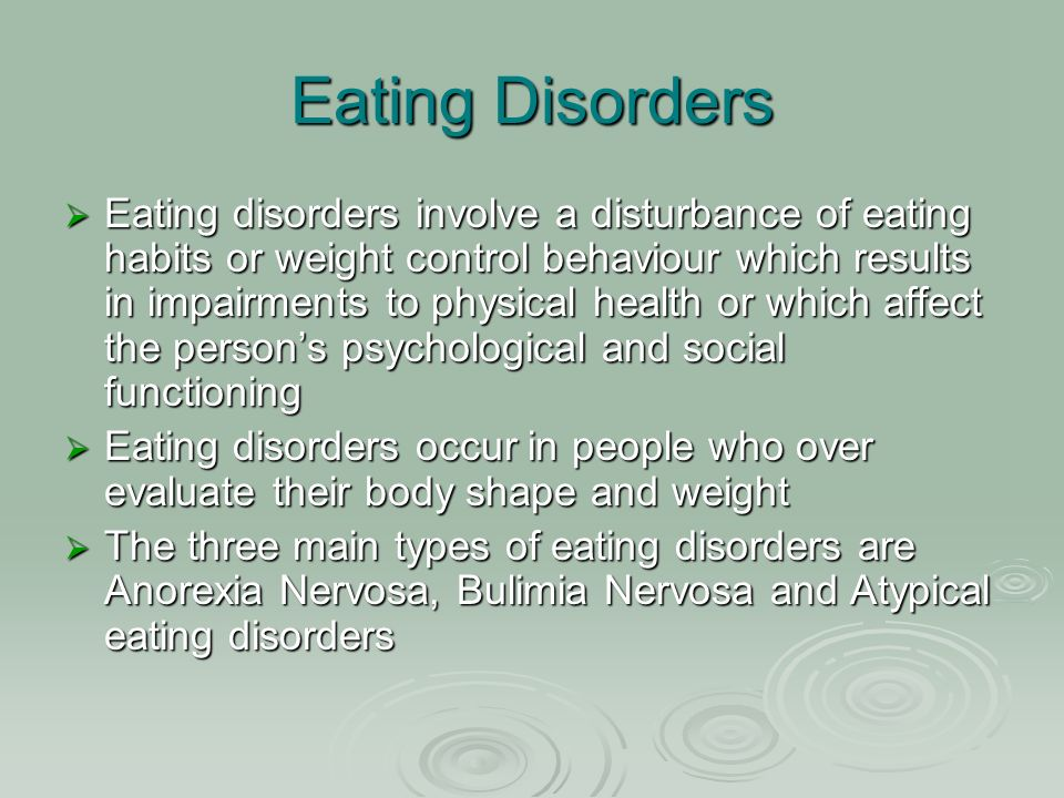 mental health first aid guidelines for eating disorders