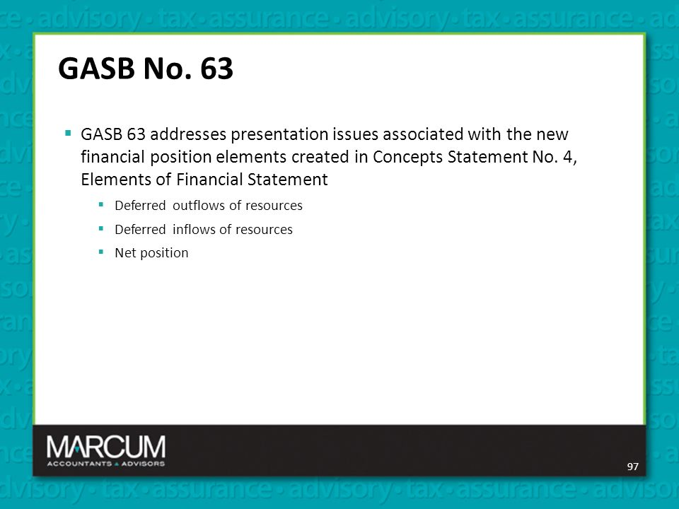 Gasb Update – Latest And Greatest Presented By Beila Sherman, Cpa