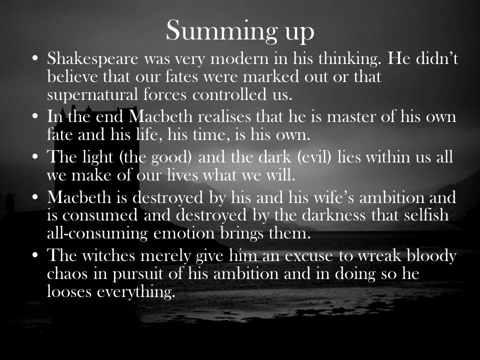 the horrendous evil within shakespeares macbeth essay Achievement standard 23 analyse extended written texts macbeth william shakespeare essay 2 macbeth truly desires to commit evil,but battle within macbeth.