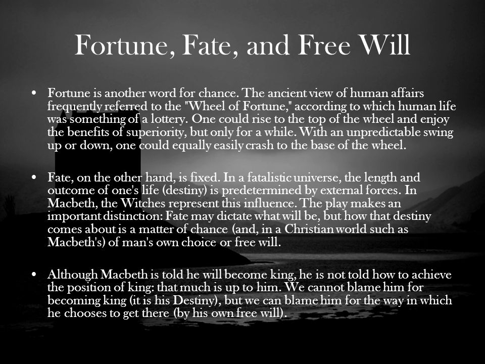What are 5 quotes from Macbeth about fate and free will?
