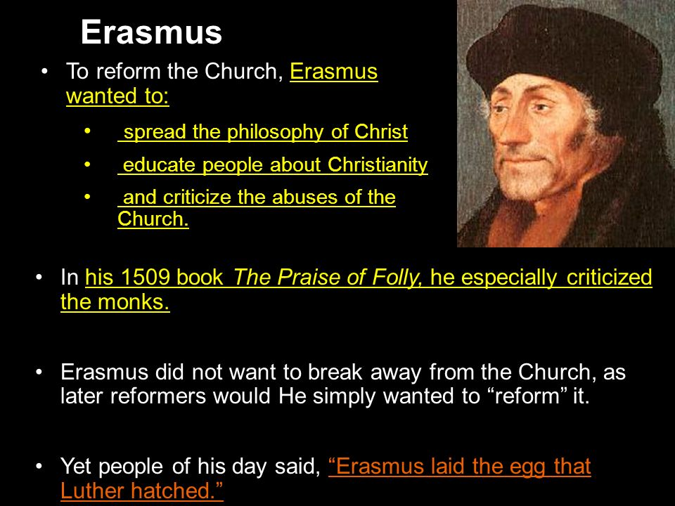 Erasmus laid the egg that luther hatched essay
